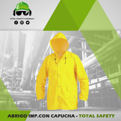 Abrigo impermeable con capucha - TOTAL SAFETY