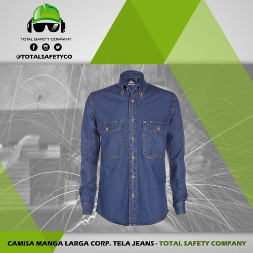 Camisa manga larga corp. tela jeans -TOTAL SAFETY