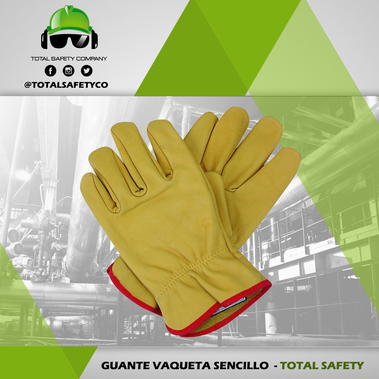 Guante vaqueta sencillo - TOTAL SAFETY