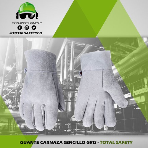 Guante carnaza  sencillo gris  - TOTAL SAFETY