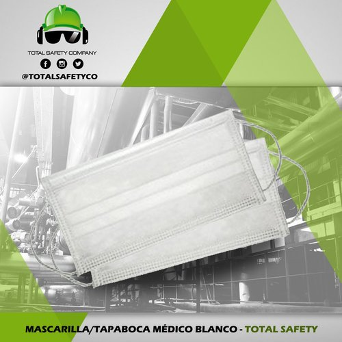 Mascarilla / tapaboca médico blanco - TOTAL SAFETY