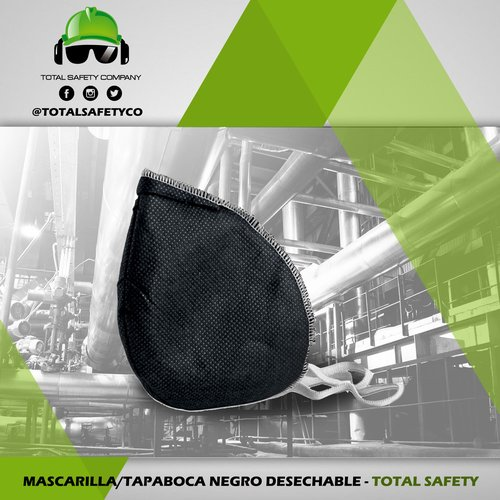 Mascarilla / tapa boca negro desechable - TOTAL SAFETY