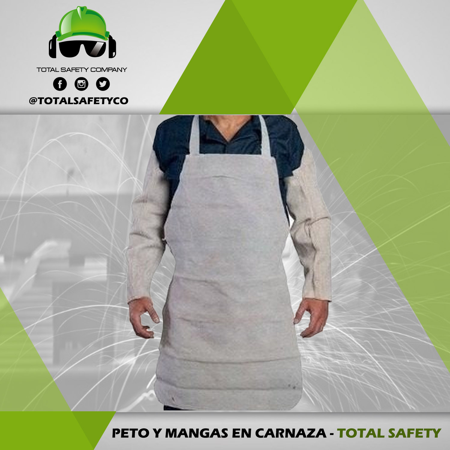 Peto y mangas en  carnaza - TOTAL SAFETY