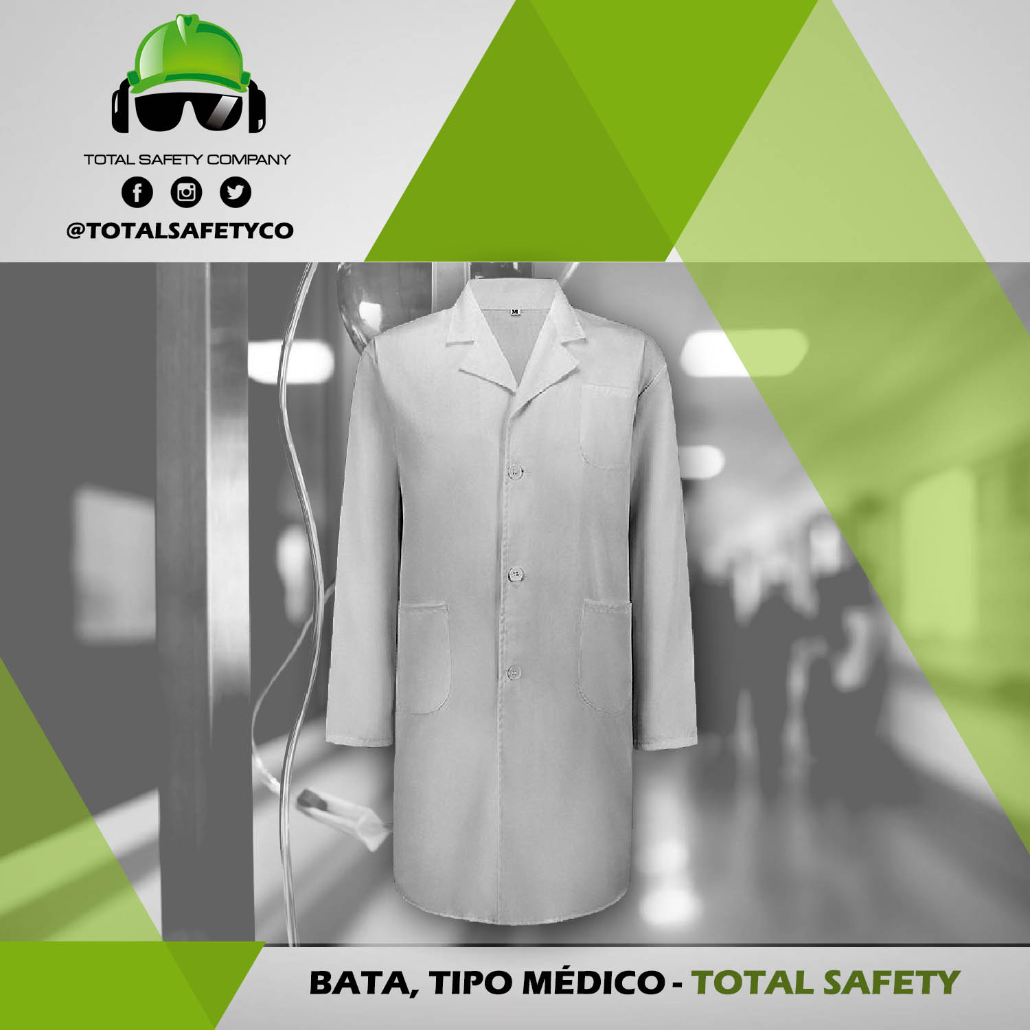 Bata tipo médico - TOTAL SAFETY