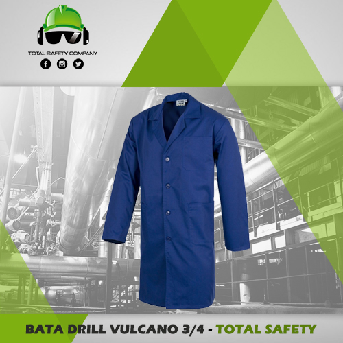Bata dril vulcano 3/4 - TOTAL SAFETY