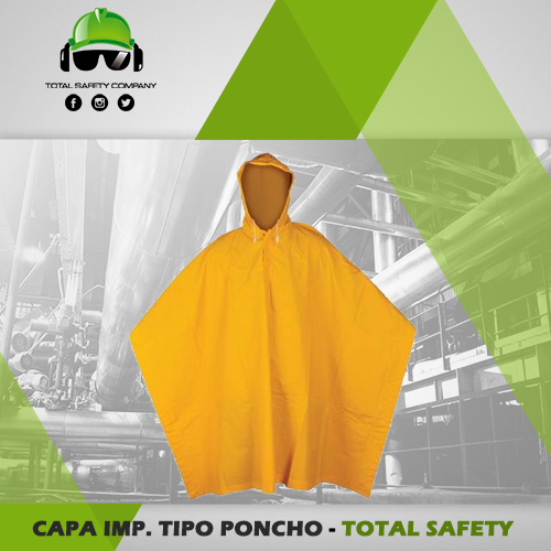 Capa impermeable tipo poncho - TOTAL SAFETY