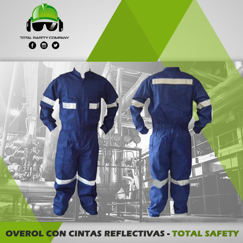 Overol con cintas reflectivas - TOTAL SAFETY