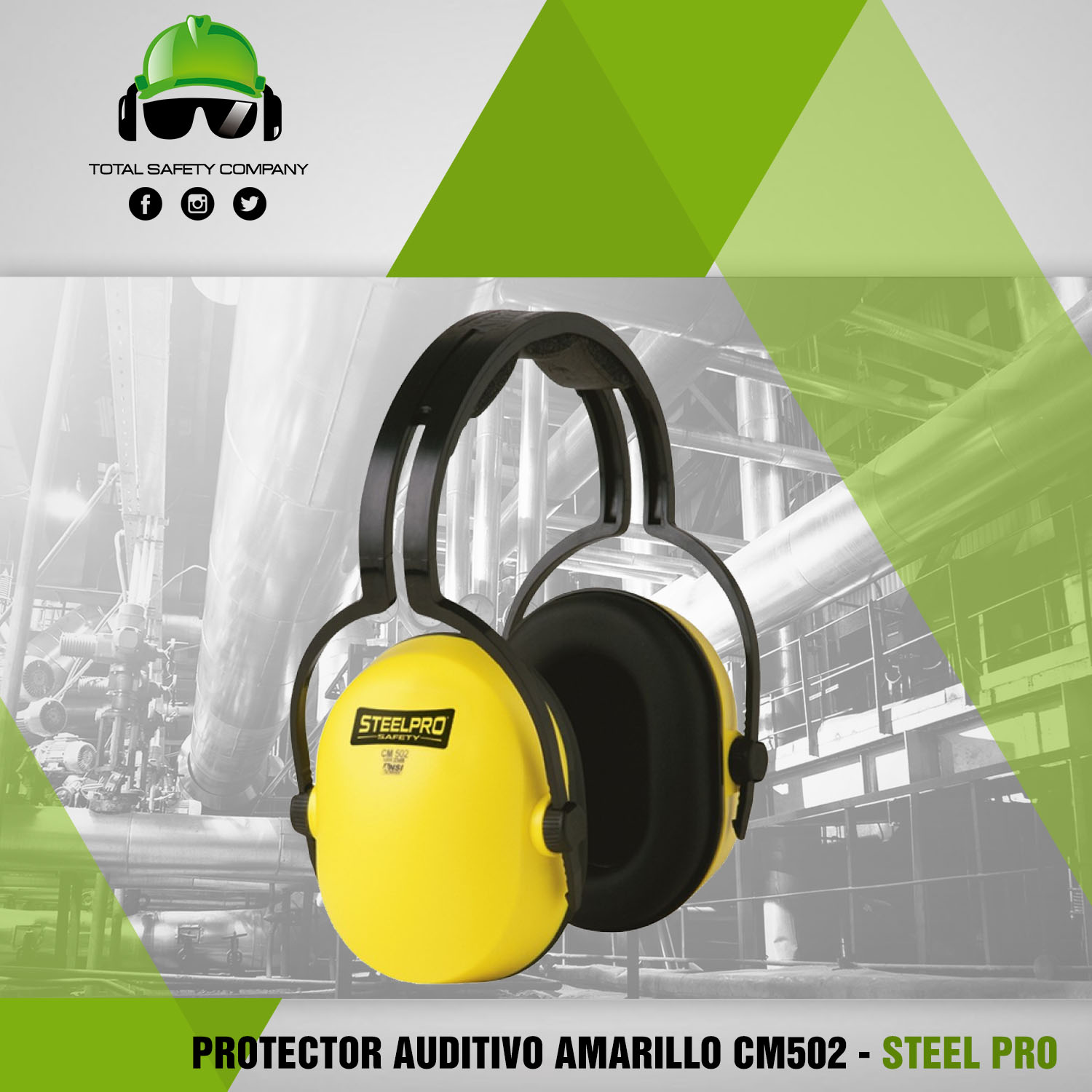 Protector auditivo amarillo CM502 - STEEL PRO